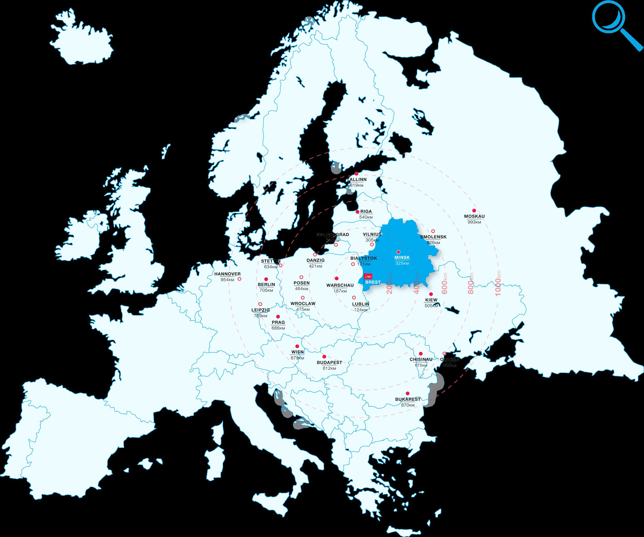 Lage Freie Wirtschaftszone Brest